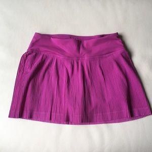 Lululemon Purple Pleated Skort